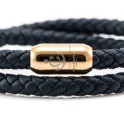 Constantin Nautics® Jack Tar náramok z pravej kože CNJ10050-18