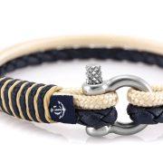 Constantin Nautics® Jack Tar SLIM náramok z kože a  jachtárskeho  lana CNJ10075-20