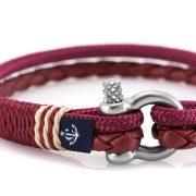 Constantin Nautics® Jack Tar SLIM náramok z kože a  jachtárskeho  lana CNJ10076-16