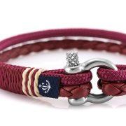 Constantin Nautics® Jack Tar SLIM náramok z kože a  jachtárskeho  lana CNJ10076-19
